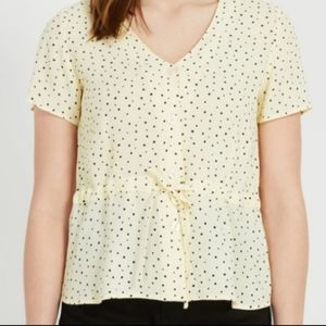 Frank & Oak peplum blouse